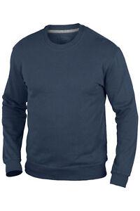 Hanes Plain NAVY DARK BLUE 100% Organic Cotton Sweatshirt Jumper S-XXXL