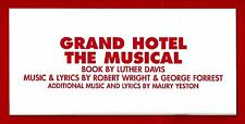 "Mary Elizabeth Mastrantonio ""GRAND HOTEL"" Daniel Evans 2005 London Program"