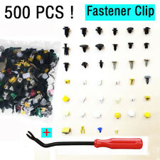 500Pcs Auto Car Fastener Clip Bumper Fender Trim Rivet Door Panel + Removal Tool