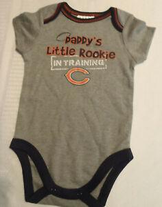 NFL Team Apparel Chicago Bears 3-6 Month Short Sleeve Grey Bodysuit NWT