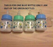REBORN 2 OZ BABY BOTTLE FILLED W FAUX FORMULA 4 REBORN OR SILICONE DOLL, BLUE