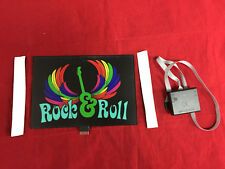 sound Activated DJ LED Flashing Light ROCK & ROLL WITH SENSOR FOR ANY T SHIRT
