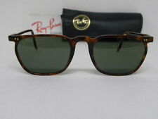 New Vintage B&L Ray Ban Asbury Rectangle Classic Tortoise W1718 Sunglasses USA