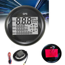 GPS Digital LCD Speedometer Meter For Motorcycle Car Truck Boat 85mm 12/24V Red