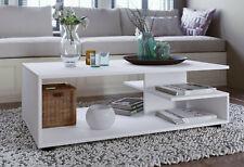 Couchtisch Beistelltisch Wohnzimmertisch Sofatisch - 106 x 51,50 - Weiß