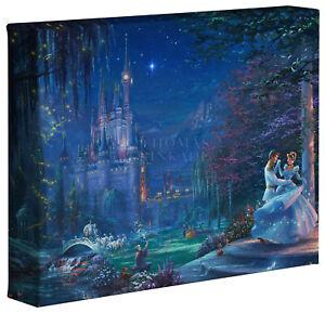 Thomas Kinkade Studios Disney Cinderella Dancing in the Starlight 8 x 10 Wrap