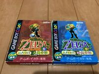 Legend of Zelda Oracle of Seasons and Ages with BOX and Manual japan Gameboy z92