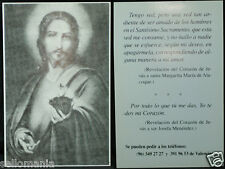 OLD BLESSED SACRED HEART OF JESUS HOLY CARD ANDACHTSBILD SANTINI ESTAMPA CC884