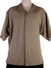 Ocean Pacific Mens Shirt Size XL Casual Short Sleeve Beige/Brown OP Beachwear
