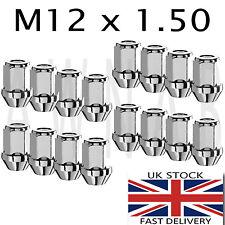 Conjunto de 16 12x1.5mm 12x1.5 Rueda De Acero De Aleación Tuercas Pernos De 60 grados cónicos