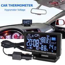 Auto Car Voltage Digital Monitor Battery Alarm Clock LCD Temperature Thermometer