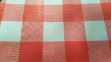 Red Gingham Paper Table Covers, pack of 25