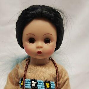 "Adorable Madame Alexander 8"" Wendy as Princess Moccasins Native American Indian"