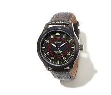 American Aviator Commemorativo Stile Vintage Leather-Strap Orologio
