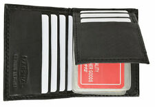 Men's GENUINE LEATHER ID Bifold 6+ Business Credit Card Sleeves Flap top Holder