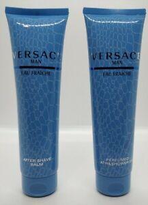 Versace Man Eau Fraiche Bath & Shower Gel + After Shave Balm for Men 5oz 150ml