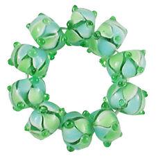 Trez Handmade Glass Lampwork Spacer Beads (Set of 10) SP154