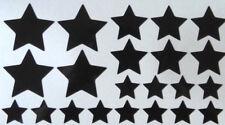22 x reflektierende Sterne  Aufkleber/Sticker/Reflektorfolie, Farbe: Schwarz