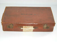 Vintage Suitcase Leather 1930s-1940s for Display Props Décor