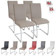 Esszimmerstühle MURANO, 4er Set, hellbraun / dunkel beige, Freischwinger Stuhl