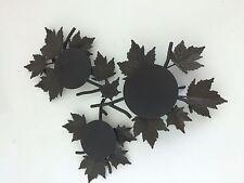 Longaberger 2007 Wrought Iron Fall Foliage 3 Piece Centerpiece 71418