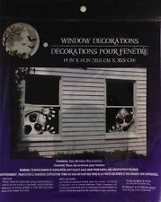 HALLOWEEN Spooky Decorative Plastic Window Decorations ~ Ghosts (FREE SHIPPING)