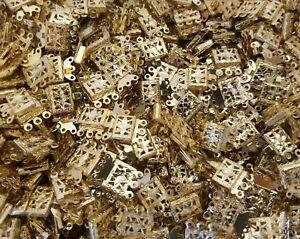 25 pcs Gold Tone Brass Filigree Box Clasps 3 Strand Jewelry Necklace Bracelet