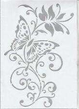 Schablone Wandschablone Butterfly 2 Schmetterlinge MT90