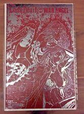 RARE! LADY DEATH vs WAR ANGEL #1 Limited LEATHER Variant Edition Avatar NM+ HTF!