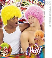 Bright Orange Afro Wig Clown 70S 80S Retro School Disco Fancy Dress