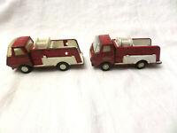 2 Vintage, 1970s TONKA Mini Fire Truck , Pressed Steel Toys