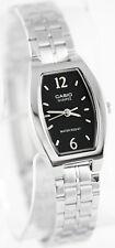 Casio LTP1254D-1A Ladies Black Square Watch Stainless Steel Dress Quartz New