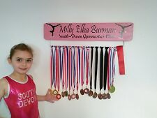 Gymnastic GB Medal Board Hanger Personalised with Jewels 70cm Width