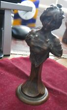 """1890s Russian French ART NOUVEAU BRONZE SEDUCTRESS, 4 1/2"""", Signed! See Photos"""
