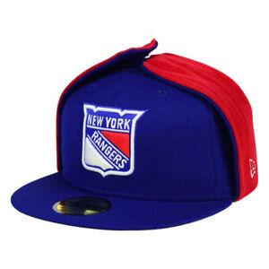 New York Rangers New Era NHL Team Dog Ear 59FIFTY Flat Bill Brim Cap Hat Lid NYR