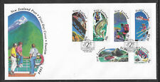 NEW ZEALAND 1994 TOURISM Fishing Helicopter Skiing Rafting 6v FDC