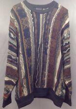 Conte Di Milno Men  Multi Color Cotton Blend Long Sleeve Sweater XL  A5-12