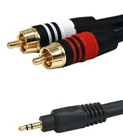 1.5 ft Aux Audio 3.5 mm Stereo Male to 2 RCA Y CABLE FOR IPOD/MP3 1.5 feet