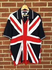 Vintage Tommy Hilfiger Polo Shirt Union Jack And American Flag XL