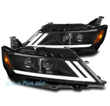 FOR 15-19 CHEVY IMPALA LED SWITCHBACK PROJECTOR HEADLIGHTS HEADLAMPS LAMPS BLACK