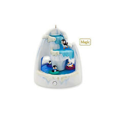 Frosty Falls 2010 Hallmark Christmas Ornament - Penguins - Ice - Let It Snow
