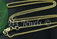 4.00 grams 18k solid yellow gold franco chain necklace  16 inches h3jewels