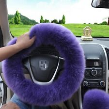 New Elastic Fluffy Woolen Auto Fur Car Steering Wheel Cover Warm Winter & Spring