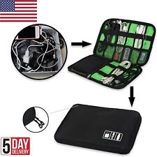 New Travel Electronic Accessories Case Cable USB Drive Insert Organizer Bag USA