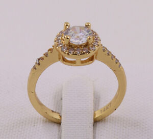 New Jewelry Natural 1.78ct Diamond 14k Solid Yellow Gold Ring Size 9
