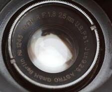 Astro Berlin 25mm 1.8 Tachar lens | cine 25 f1.8 Mitchell Std