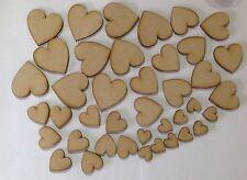 40 x artigianale in legno forme Cuori