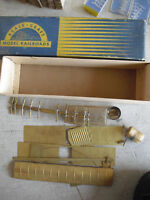 Vintage 1940s HO Scale Scale-Craft Brass Incomplete Box Car Kit in Box
