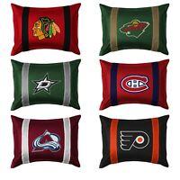 NHL HOCKEY TEAM PILLOW SHAM - Sport League Team Logo Cover Bedding Accessory