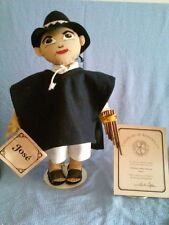 """Doll 19""""-Collectible Ethnic/Otavalo Indian handcrafted Authentic """"Coffeetots"""""""